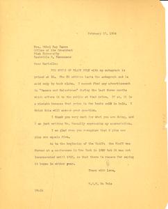 Letter from W. E. B. Du Bois to Ethel Ray Nance