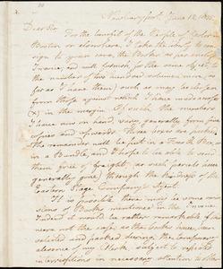 Letter from Charles Whipple, Newburyport, [Massachusetts], to William Lloyd Garrison, 1835 June 12