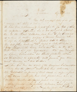Letter from Henry Egbert Benson, Providence, [Rhode Island], to William Lloyd Garrison, 1832 May 24th