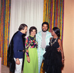 Gwen Gordy Fuqua and others posing together at a party, Los Angeles