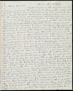 Letter from Anne Warren Weston, Boston, to Deborah Weston, April 8, 1839
