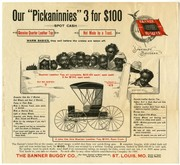 Advertisement for the Banner Buggy Company, St. Louis, ca. 1900