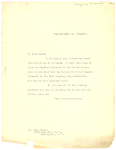 Letter from W. E. B. Du Bois to John Hurst