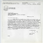 Letter from Alan Cartner to Commissioner of Education Francis Keppel