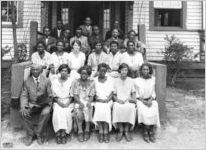 African American Extension: Bullock County students, 1925
