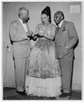Josephine Baker, Noble Sissle, and Harold Jackman, March 16, 1951