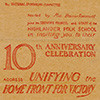 Poster for 10th Anniversary of the Highlander Folk School