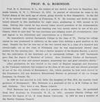 Prof. R. G. Robinson, B. L. [verso]