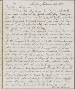 Letter from George Thompson, London, [England], to William Lloyd Garrison, 1852 September 24