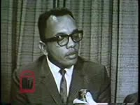 WSB-TV newsfilm clip of an unidentified African American man commenting on the need for African American leaders to help the youth of Atlanta, Georgia, 1967 April 26