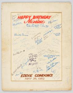 Handmade birthday card for Maxine Sullivan
