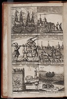 Turks taking the English / Selling slaves in Algiers / Execution with a batoone / Turks burning of a frierer / Divers cruelties / Making their boat & their escape to Mayork