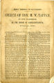 "Modern ""democracy,"" the ally of slavery: speech of Hon. M.W. Tappan, of New Hampshire..."