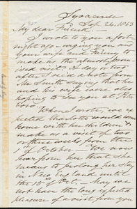 Letter from Samuel Joseph May, Syracuse, [N.Y.], to William Lloyd Garrison, Sep[tember] 24, 1863