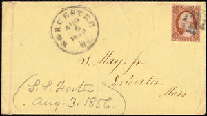 Letter from Stephen Symonds Foster, Worcester, [Mass.], to Samuel May, Aug. 3, 1856