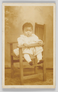 Photographic postcard of unidentified child