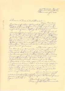 Letter from Mary B. McCormack to W. E. B. Du Bois