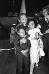 Marvin Gaye with children, Los Angeles, 1983