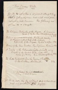 Bibliography by Samuel May
