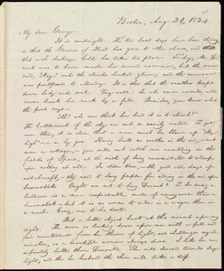 Letter from William Lloyd Garrison, Boston, [Mass.], to George William Benson, Aug. 21, 1834