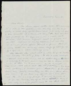 Letter from Emma Forbes Weston to Lucia Weston, Wednesday, June 29, [1842]