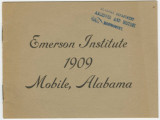 Commencement program for the Emerson Normal and Industrial Institute in Mobile, Alabama.
