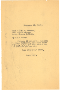 Letter from Crisis to Clara M. Jackson
