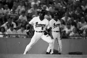 Bo Jackson during a Birmingham Barons baseball game in Birmingham, Alabama.