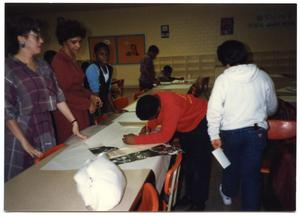 Adults and Students During Poster Art Contest San Antonio Chapter of Links Records