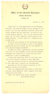 Niagara Movement secretarial letter No. 2