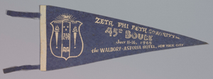Pennant for the Zeta Phi Beta sorority's 45th Boulé