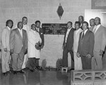 Cornerstone setting ceremony for the First Missionary Baptist Church of Banning, California
