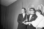 Lionel Richie, Nate Parker at AMAs, Los Angeles, 1983