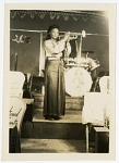 [Sadie D. Whitehead, member of the Sweethearts of Rhythm-Piney Woods Band, trumpeter.] [Black-and-white photoprint]