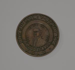 Medal depicting Prince Hall and Freemasonry