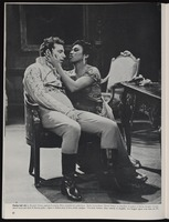 Playing lead role in Puccini's Tosca, soprano Leontyne Price comforts her artist lover ...