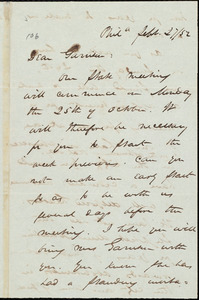 Letter from James Miller M'Kim, Phil[adelphia], [Pa.], to William Lloyd Garrison, Febr[uary] 27 / [18]52