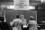 Photographs of the 1974 annual institute of the NAACP Legal Defense and Educational Fund (LDF) at the Hotel Americana in New York City.