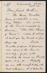 Letter to] Dear friend Mckim [manuscript