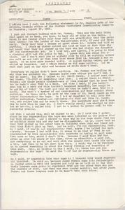 Affidavit, Marie T. Meely Statement to Charles Cobb, Student Nonviolent Coordinating Committee