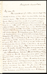 Letter from S. Alfred Steinthal, Bridgewater, [England], to Samuel May, March 8th, 1854