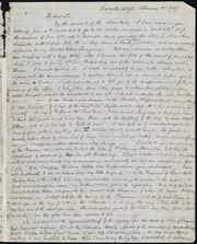 Letter to] My dear sir [manuscript