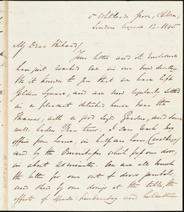 Letter from George Thompson, London, [England], to Richard Davis Webb, 1845 August 12