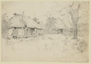 [View of Negro village]