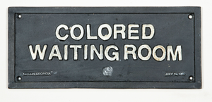 Colored waiting room plaque