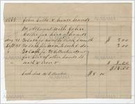 Statement of account of laborers to work as house hands for John Cocke, 1868