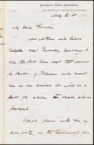 Letter from James Miller M'Kim, Philadelphia, [Pa.], to William Lloyd Garrison, May 21st [1864]