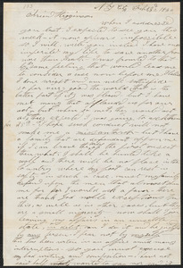 Stephen J. Willis autograph letter signed to [Thomas Wentworth Higginson], N.Y., 23 February 1860