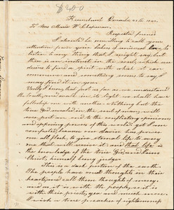 Letter from Eunice Dorman, Kennebunk, [Maine], to Maria Weston Chapman, 1842 December 25