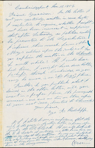 Letter from George K. Radcliffe, Cambridgeport, [Cambridge, Massachusetts], to William Lloyd Garrison, 1858 Jan[uary] 10
